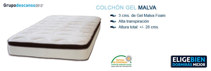Colchón Gel Malva - Grupo Descanso