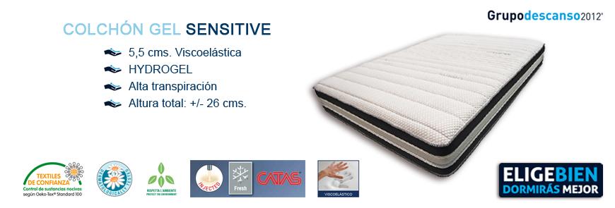 Colchón Viscoelástico Gel Sensitive - Grupo Descanso