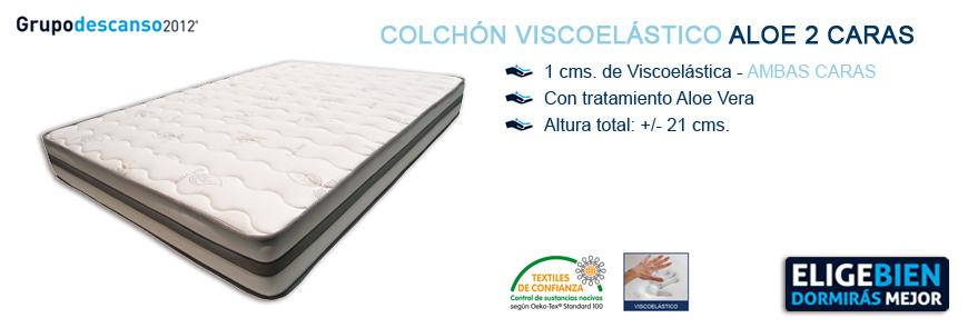 Colchón Viscoelástico Aloe 2 Caras - Grupo Descanso