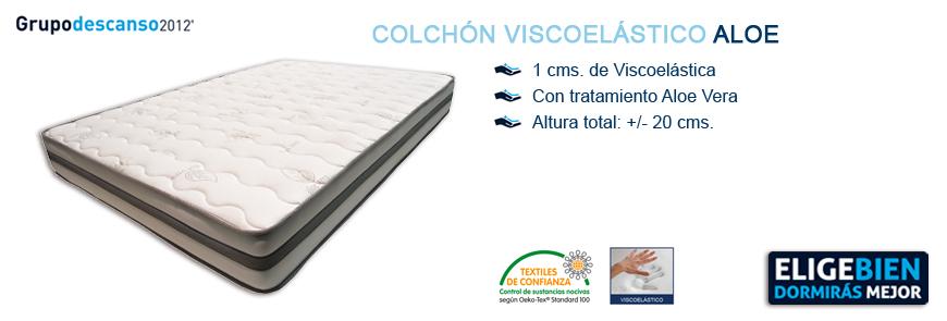 Colchón Viscoelástico Aloe - Grupo Descanso