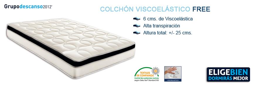 Colchón Viscoelástico Free - Grupo Descanso