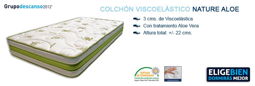 Colchón Viscoelástico Nature Aloe - Grupo Descanso