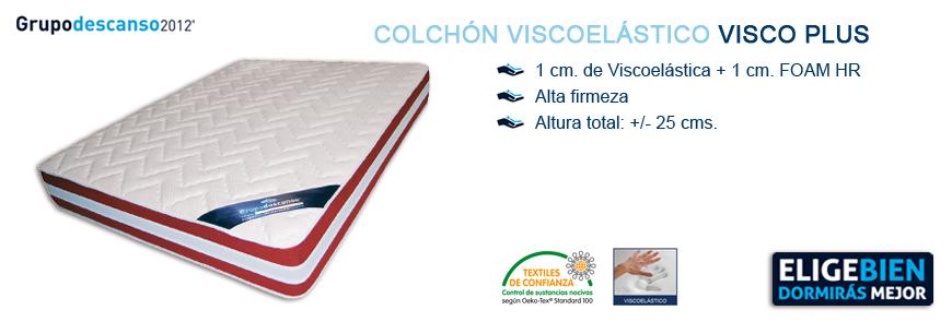 Colchón Viscoelástico Visco PLUS - Grupo Descanso