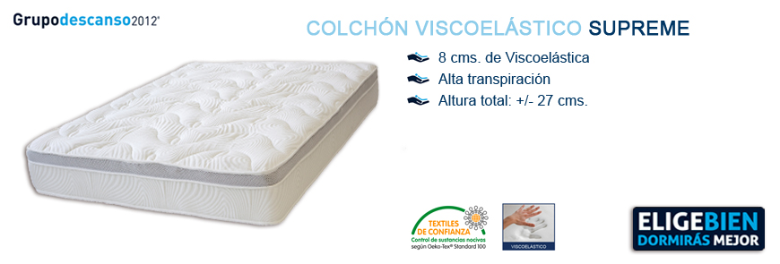 Colchón Viscoelástica Supreme - Grupo Descanso