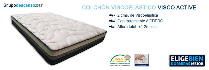 Colchón Viscoelástico Visco Active - Grupo Descanso