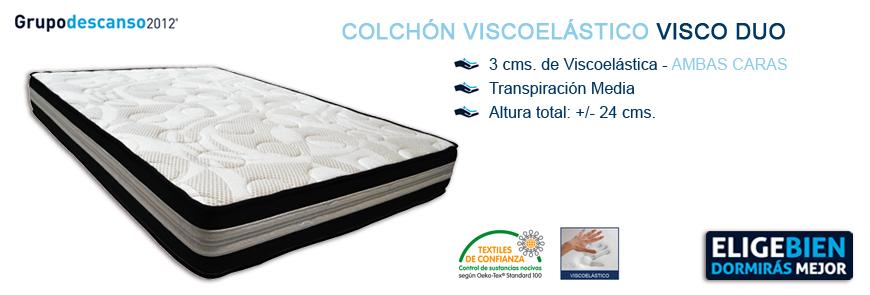 Colchón Viscoelástico Visco Duo - Grupo Descanso