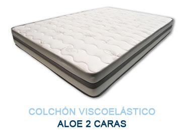 Colchón viscoelástico ALOE 2 CARAS - Colchones Grupo Descanso