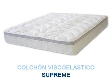 Colchón viscoelástico SUPREME - Colchones Grupo Descanso