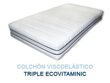 Colchón viscoelástico Triple EcoVitaminic - Colchones Grupo Descanso