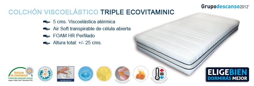 Colchón Viscoelástico Triple EcoVitaminic - Grupo Descanso