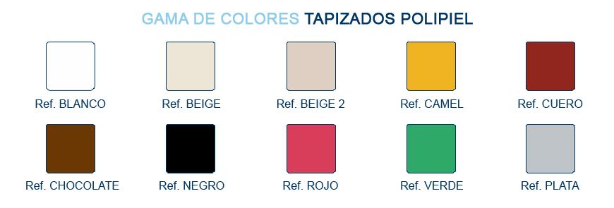 Gama de colores para tapizados polipiel - Grupo Descanso